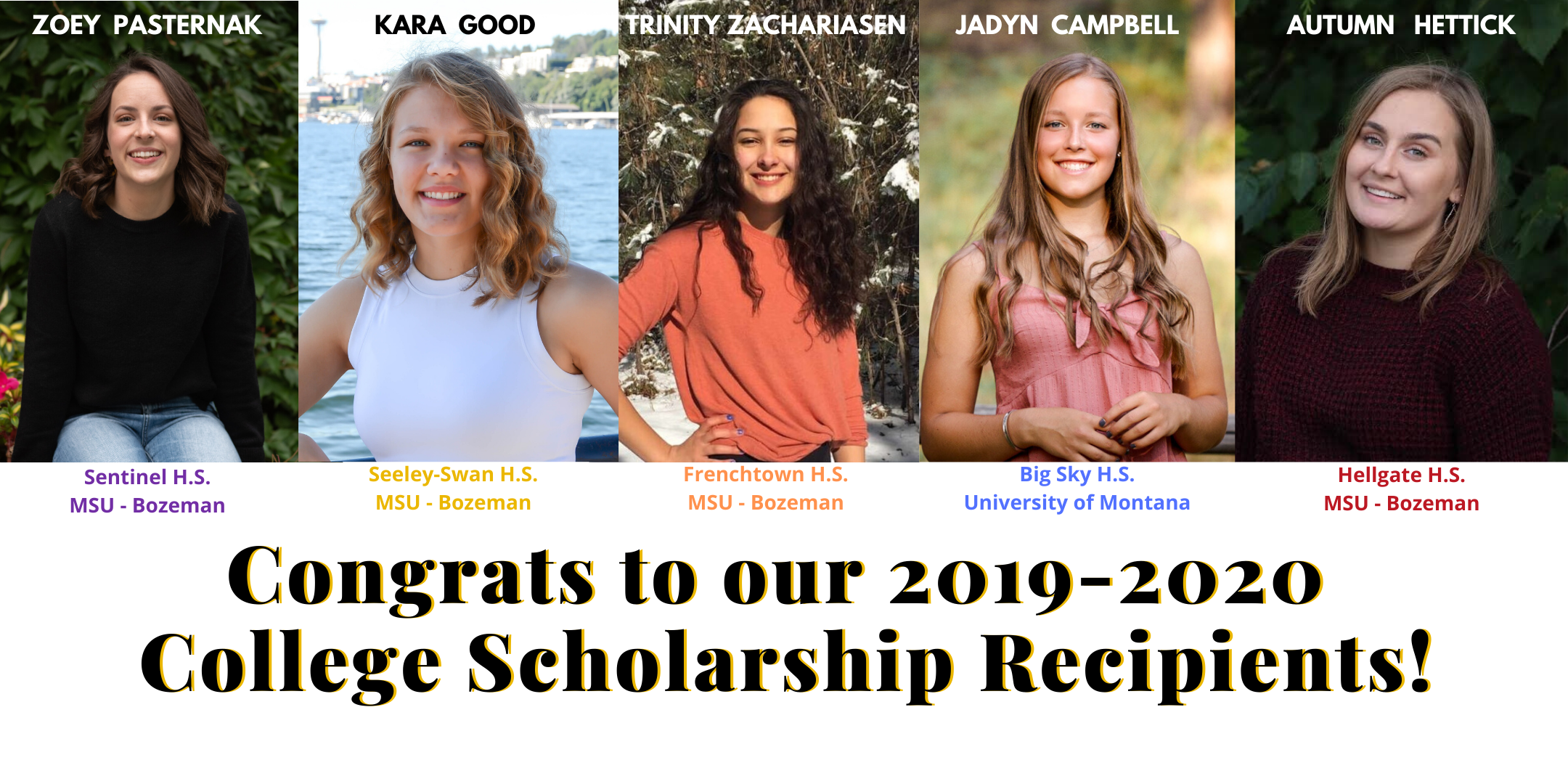 2019-2020 High School Recipients Photo