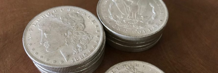 Donor gives silver coins